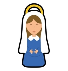 Maria icon Merry Christmas design graphic vector image