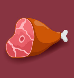 Meat - gammon fresh meat icon flat vector