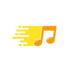 melody delivery logo icon design vector image