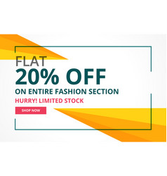 Modern sale banner design with geometric shapes vector