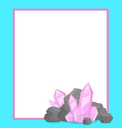 Natural resources poster with precious stone promo vector