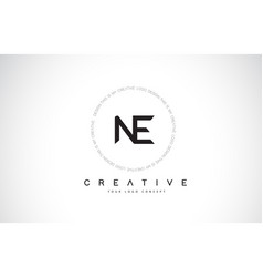 Ne n e logo design with black and white creative vector