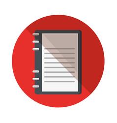 Notebook school supply icon vector