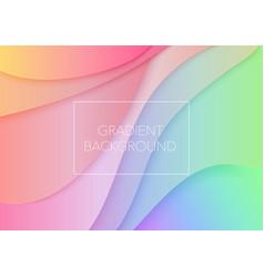paper art cartoon abstract waves trendy gradient vector image