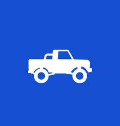 Pickup truck 4x4 car icon vector