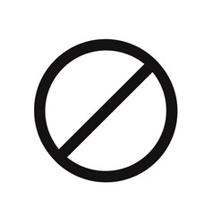 prohibition icon stopforbidden symbol vector image