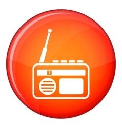 Radio icon flat style vector