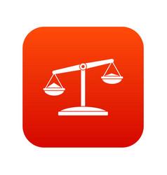 retro scales icon digital red vector image