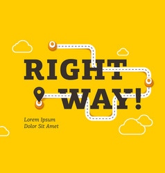 Right way business concept with winding road vector