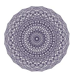 round gradient mandala on white isolated vector image