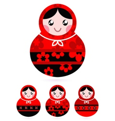 Russian doll set vector