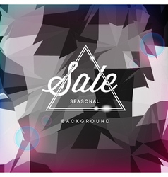 Sale discount poster polygonal background vector image