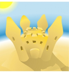 sandcastle illustration vector image
