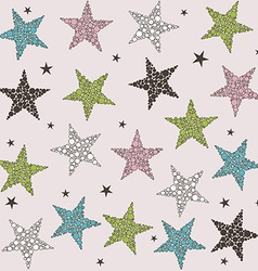 Seamless colored stars pattern vector