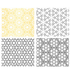 seamless geometric curve line pattern vector image