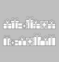 set of series of gift boxes vector image