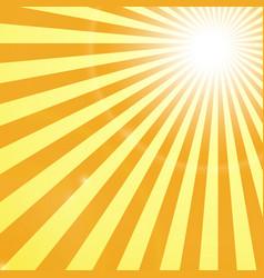 Shining sun rays background vector