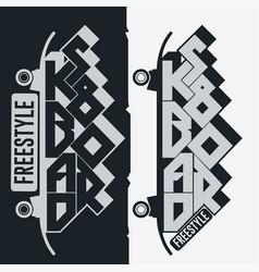 Skateboarding t-shirt typography print emblem vector