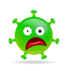 Smile emoji coronavirus infection bacteria vector
