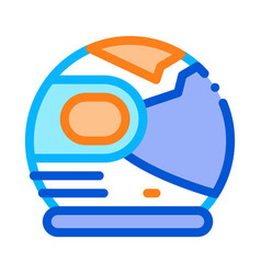 spaceman helmet mask icon outline vector image