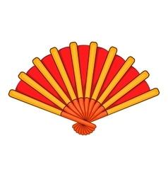 Spanish fan icon cartoon style vector image