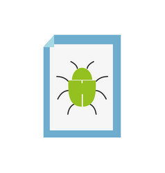 spider insect to danger symbol inside paper vector image