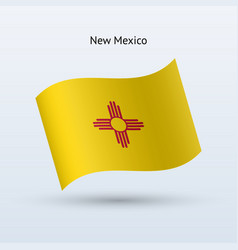 state of new mexico flag waving form vector image
