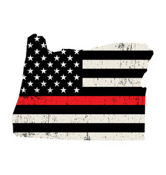 state oregon firefighter support flag vector image