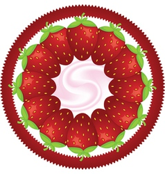 Strawberry in a circle vector