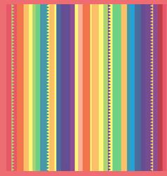 strip rainbow seamless pattern vector image