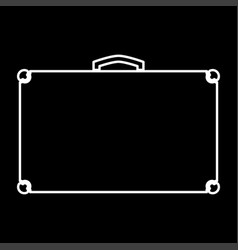 suitcase it is icon vector image