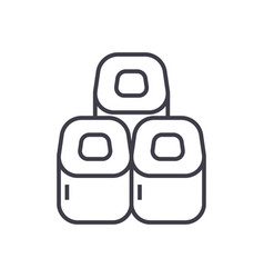 sushi rolls line icon sign vector image