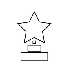 trophy star winner award it is black icon vector image