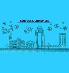 United states louisville winter holidays skyline vector