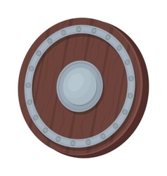 Viking shield icon in cartoon style isolated on vector