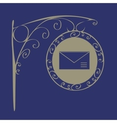 Vintage sign mail vector
