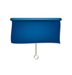 Vintage window sun blind cloth in blue design vector