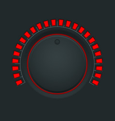 Volume switch black round button knob vector