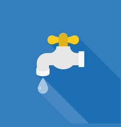 Water tab icon with droplet of water vector