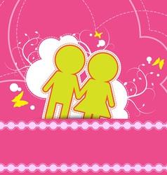 wedding background design vector image