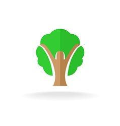 Woman silhouette tree logo vector