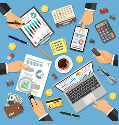 Workplace auditing tax process accounting vector