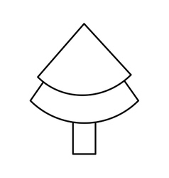 xmas pine tree vector image