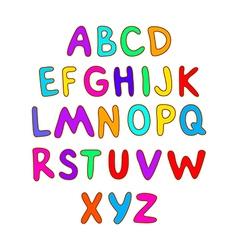 ABC for kids alphabet kids children fun vector image vector image