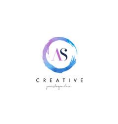as letter logo circular purple splash brush vector image