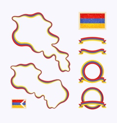 Colors of Armenia vector image vector image