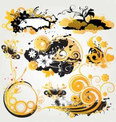 graphic pack backgrounds vector image vector image