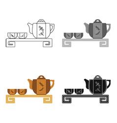 japanese tea cartoon icon in cartoon style vector image
