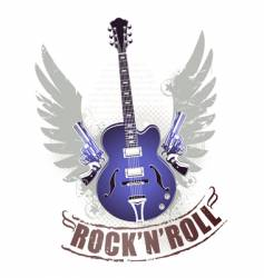 rock n roll image vector image vector image
