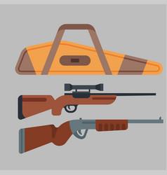Two shotguns hunting gun vector